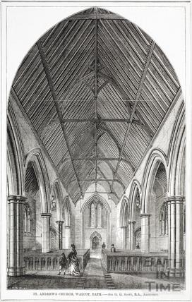 St Andrews Church, Walcot. Sir G. Gilbert Scott, architect c.1874