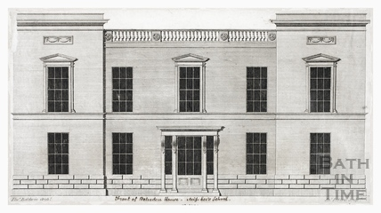 Front elevation of Belvedere House, Miss Lee's School, Bath c.1795