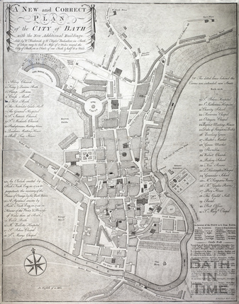 A New and Correct Plan of the City of Bath with the New Additional Buildings 1772