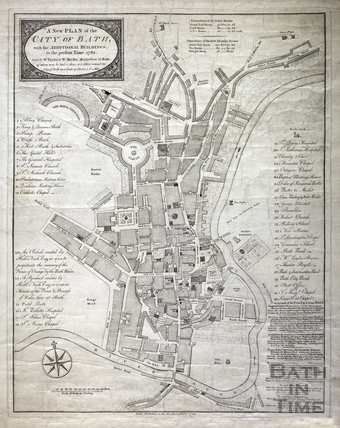 A New and Correct Plan of the City of Bath with the New Additional Buildings to the present time 1783