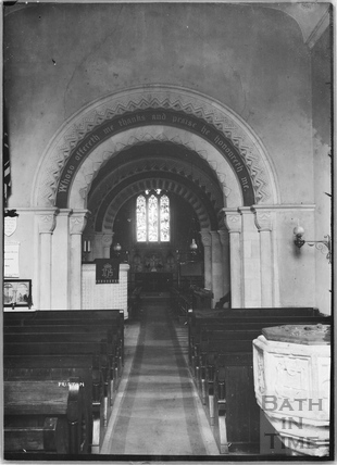 Inside Priston Church 1932