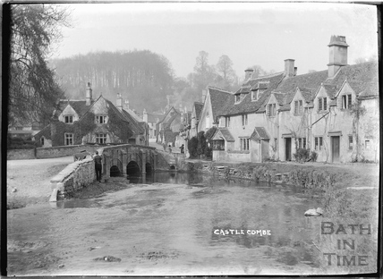 The classic view of Castle Combe 1936