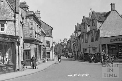 High Street, Corsham c.1937 - detail