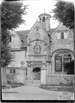 Entrance to the Alms Houses, Corsham 1 August 1922