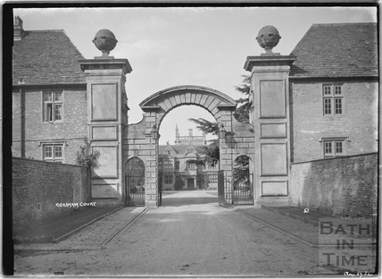Corsham Court viewed through the gateway, August 1922