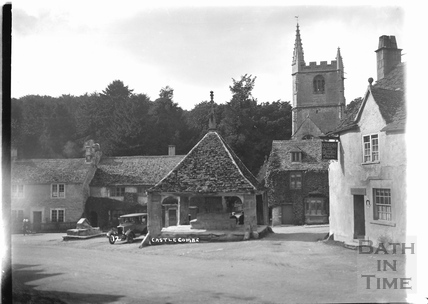 The Castle Inn and church, Castle Combe No.12 c.1930s