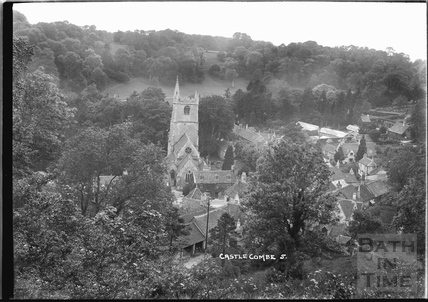View of the church, Castle Combe No.5 c.1930s