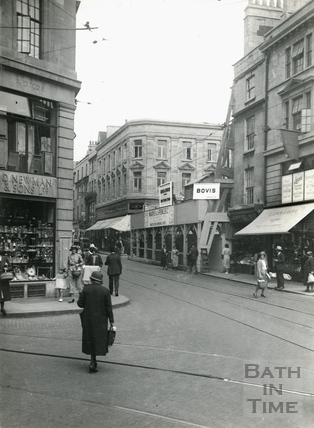 Stall Street, looking north from Newman's corner (Lower Borough Walls) 1933