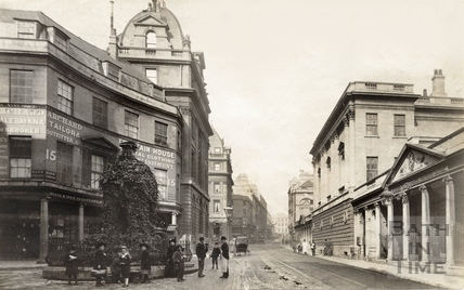Stall Street at the junction of Bath Street, looking north to Union Street 1883
