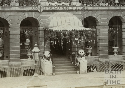Grand Pump Room Hotel, Stall Street 1897 - detail