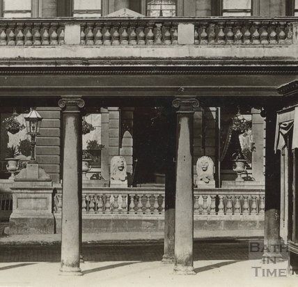 The Grand Pump Room Hotel, looking through the Colonnade c.1903 - detail