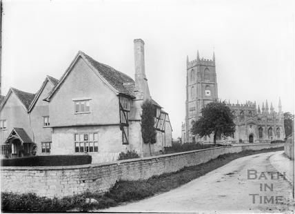 Steeple Ashton and church, c.April 1936