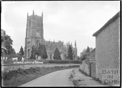 St Mary's church, Steeple Ashton c.April 1936