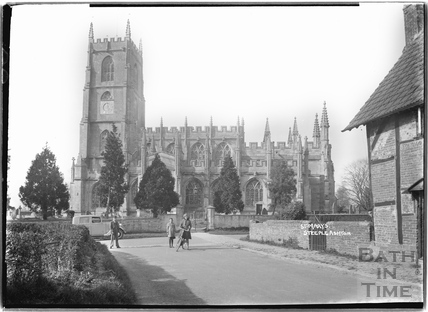 St Marys Church, Steeple Ashton c.April 1936