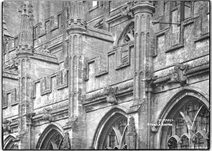 St. Mary's Church, Steeple Ashton, Wiltshire c.April 1936 - detail