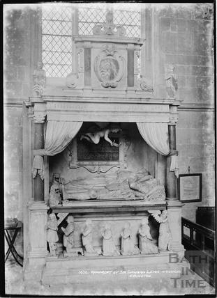 1630 Monument of Sir Edward Lewis in the Chancel, Edington, Wilts c.1920s