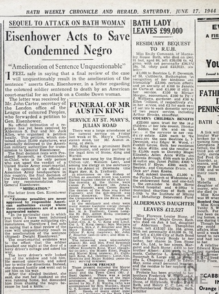 Eisenhower acts to save condemned Negro, June 17 1944
