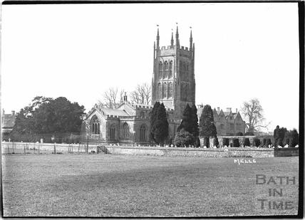 Church at Mells, Somerset c.1938