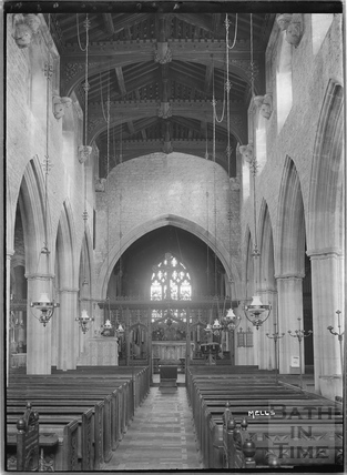 Inside the Church at Mells, Somerset c.1938