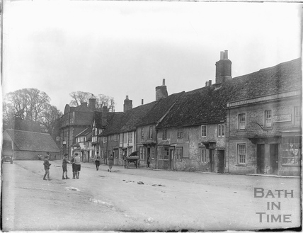 Children playing in the street in Lacock, 1926