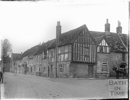 A street corner in Lacock, 1926