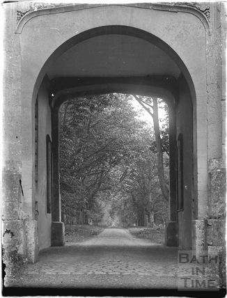 Looking through the gateway, Lacock, 1926
