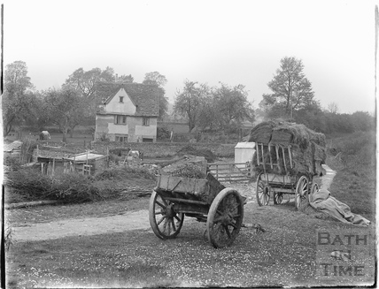 Rural scene with cart, Lacock, 1926