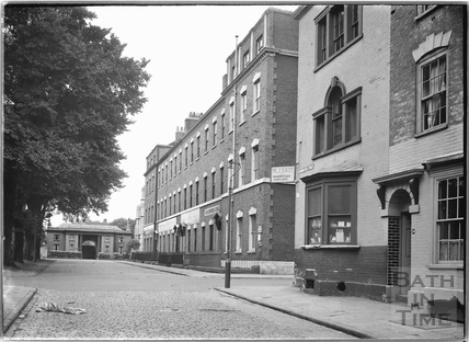 Brunswick Square, the east side, Bristol c.1950