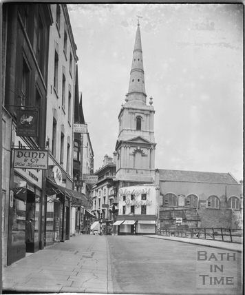 Christ Church, viewed from High Street, Bristol c.1950