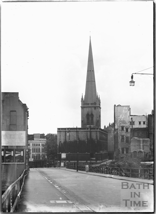 St Nicholas' Church, St Nicholas' Street. The steeple. Bristol c.1950