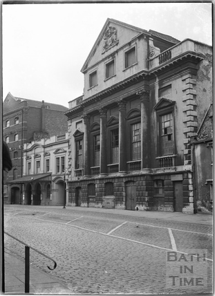 The Coopers' Hall, Kings Street, and Theatre Royal entrance. Bristol c.1950