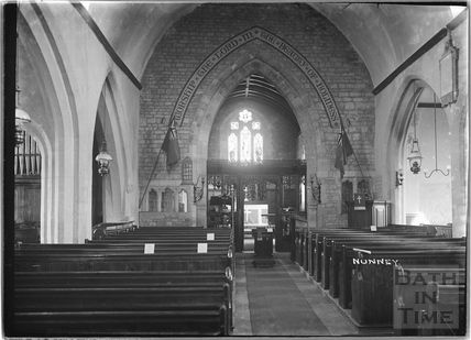 Inside Nunney Church c.1920s