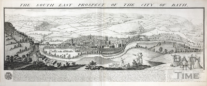The South East Prospect of the City of Bath, 1734