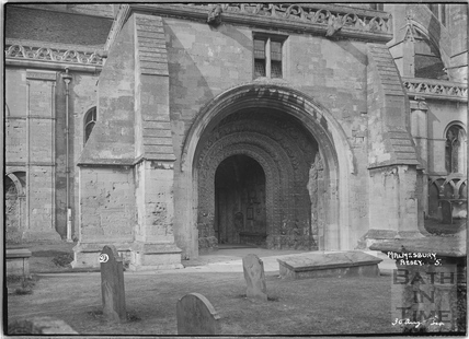 Norman Doorway, Malmesbury Abbey No.5 30 August 1934