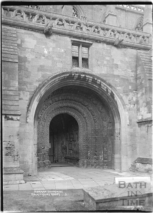 Norman Doorway, Malmesbury Abbey No.3 August 1934