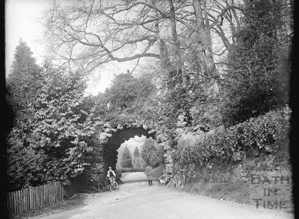 Stone arch in the grounds of Stourhead, WIltshire, April 22nd 1900