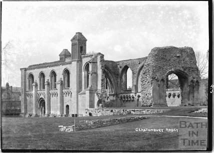 Glastonbury Abbey, April 1935