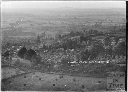 View from the Tor, Glastonbury, 6th Sept 1934
