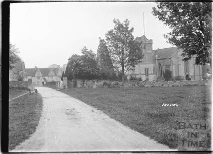 The church at Atworth, Wiltshire c.1920s