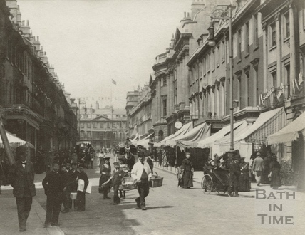 Milsom Street looking towards York Buildings c.1900