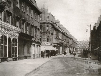 General view of Milsom Street, looking towards York Buildings c.1900