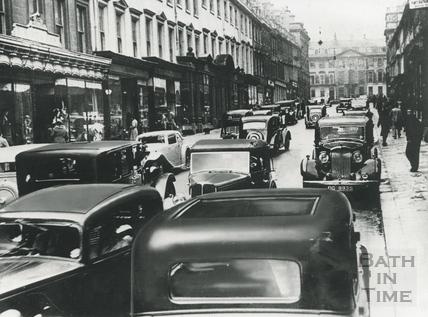 Traffic on Milsom Street, c.1950s