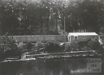 The boating station at Twerton, on the Lower Bristol Road c.1903