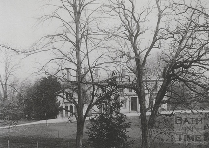 Wood House, Twerton, viewed through the trees c.1903