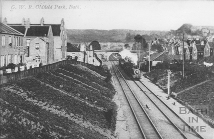 The down goods train between Brougham Hayes and Brook Road in Oldfield Park c.1920s?