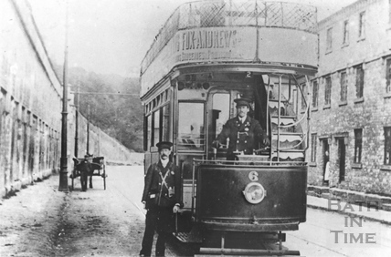 Tram on the Lower Bristol Road, Twerton 1908
