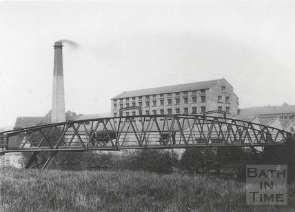 Bridge over the Avon, by the mills at Twerton c.1903