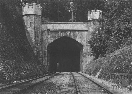 The eastern portal of the longer Twerton Tunnel c.1903