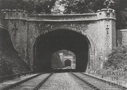 The east portal of the short tunnel, Twerton c.1903