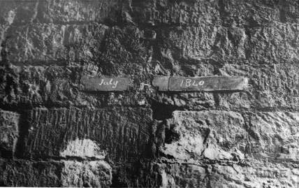 Copper tablets in Twerton Tunnel 1903
